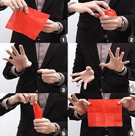 Magic tricks using the magician's secret thumb tip.