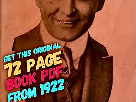 Get a FREE copy of ORIGINAL Houdini book from 1922 @ BasicsOfMagic.com