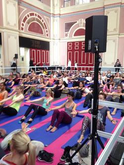 yoga at Ali Pali