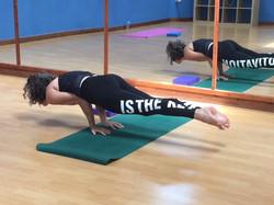CD practicing Yoga
