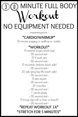 30min workout - no equipment