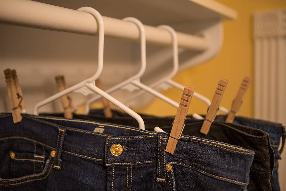 Heritage Clothespins holding Jeans