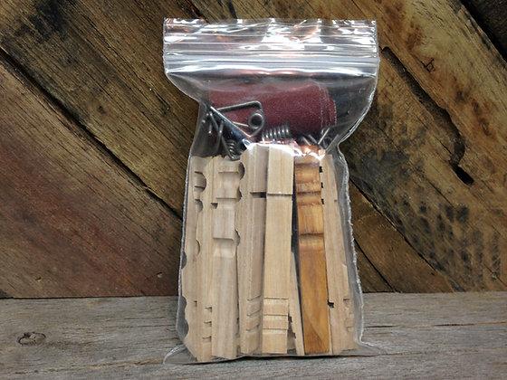 Ash Clothespins - Qty. 10 DIY Factory Seconds