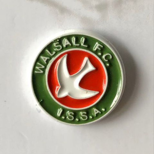 Walsall FC Retro 'I.S.S.A' Pin Badge (Green Trim)