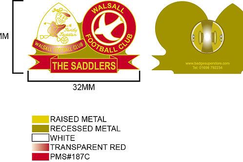 Sandy Saddler Pin Badge