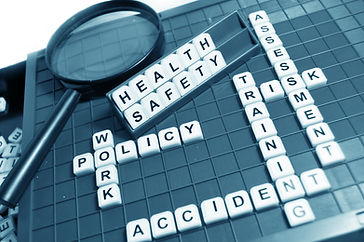 Health and safety concept with letters a