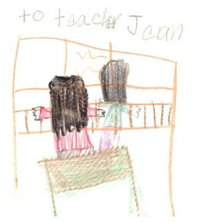 To my piano teacher, a musical drawing