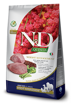 Farmina N&D Adult All Breeds Weight Management - Agnello, Quinoa, Broccoli e Asp