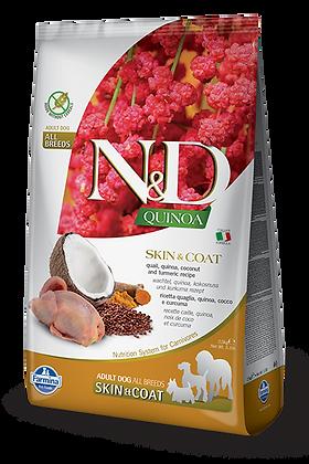 Farmina N&D Adult All Breeds Skin&Coat - Quaglia, Quinoa, Cocco e Curcuma