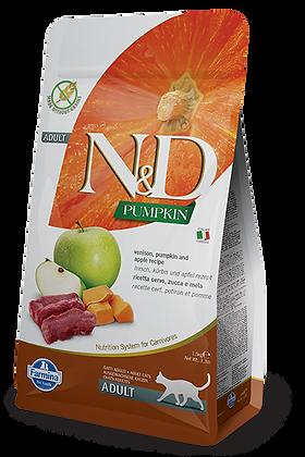 Farmina N&D cervo zucca e mela - cibo secco gatto adulto