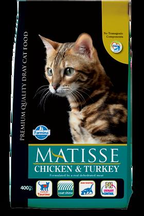 Matisse Pollo e tacchino secco per gatti adulti