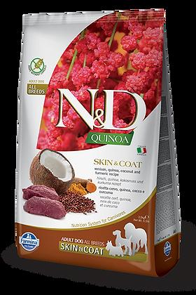 Farmina N&D Adult All Breeds Skin&Coat - Cervo, Quinoa, cocco e curcuma