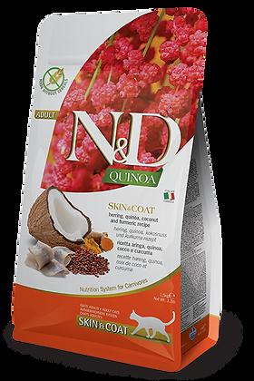 Farmina N&D gatto adult Skin e Coat - aringa, quinoa, cocco e curcuma