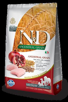 Farmina N&D Medium - farro, avena, pollo e melograno