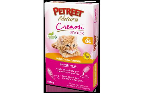 Petreet Natura Snack Cremosi Pollo con Carote