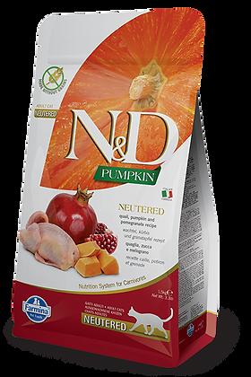 Farmina N&D quaglia zucca e melograno - cibo secco gatti adulti neutered