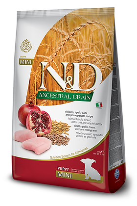 Farmina N&D Puppy mini - ANCESTRAL GRAIN pollo farro avena e melograno