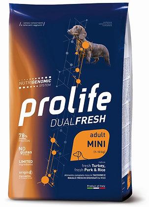 Prolife Dual Fresh Adult Mini - Tacchino maiale e riso