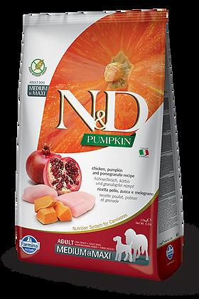 Farmina N&D Adult Medium e Maxi - Pollo zucca e melograno
