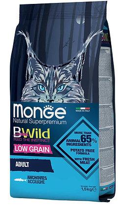 monge gatto secco bwild adult acciughe 1.5Kg