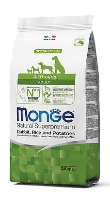 Monge Adult All Breeds - Coniglio, Riso e Patate