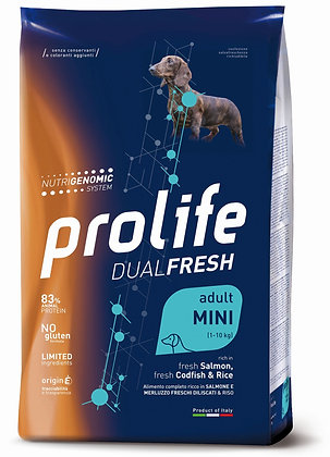 Prolife Dual Fresh Adult Mini - Salmone merluzzo e riso