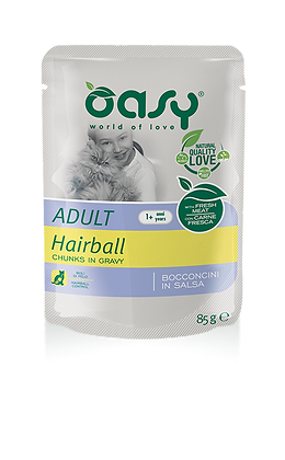 Oasy adult gatto hairball 85g x 6