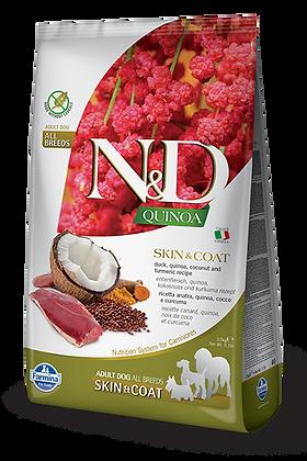 Farmina N&D Adult All Breeds Adult Skin&Coat - Anatra, Quinoa, Cocco e curcuma
