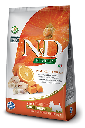 Farmina Adult Mini Breed N&D Merluzzo zucca e arancia