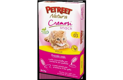 Petreet Natura Snack Cremosi con Pollo