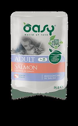 Oasy gatto adult bocconi in salsa gusto salmone 85g x 6