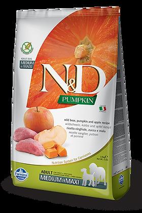 Farmina Adult Medium e Maxi N&D cinghiale zucca e mela