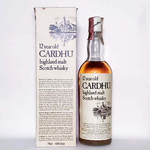 Cardhu 12yo OB 1970s Imported by Wax & Vitale Italy