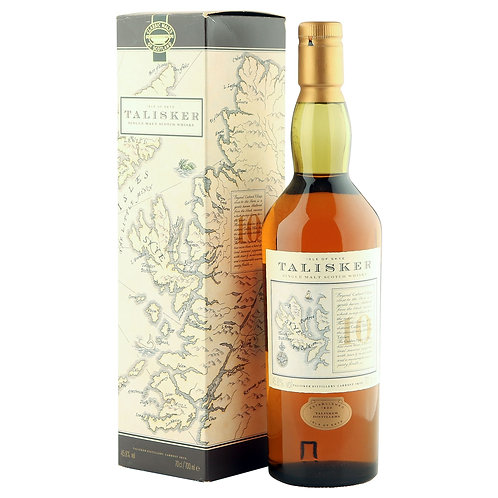 Talisker 10 year-old Old Map Label (with box)