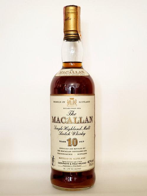 Macallan 10yo Giovinettie and Filgi Milano Import (70s Distilled) WITHOUT box