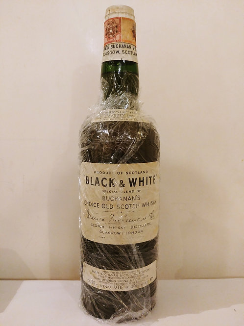Black and White Blended Whisky (Spring Cap, 1950s)