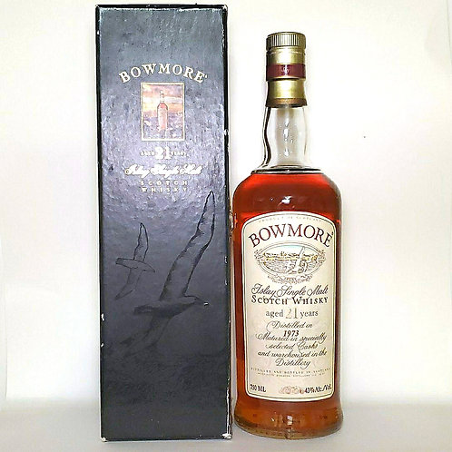 Bowmore 1973 21yo OB (seagull label) WITH BOX