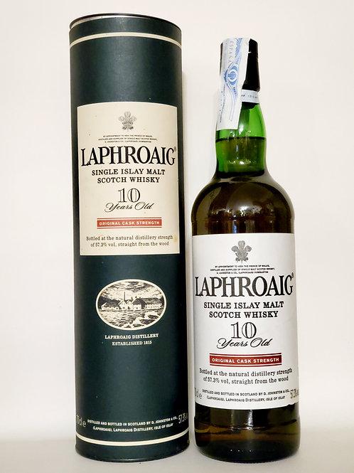 Laphroaig 10yo Cask Strength (red label, 57.3%)
