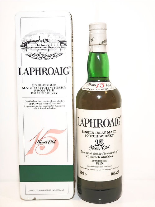 Laphroaig 15yo OB (bottled 1980s, small red 15 on neck) WITH BOX