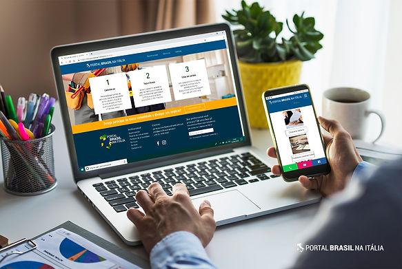 Cliente Portal Brasil na Itália