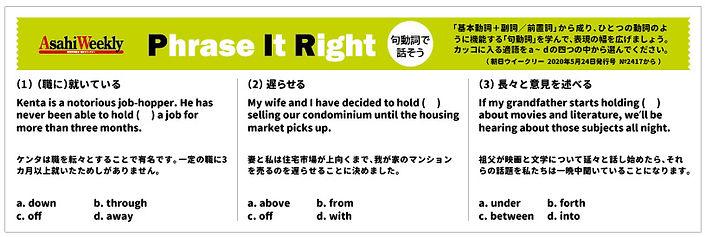 Phrase-It-Right「句動詞で話そう」202110