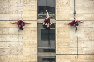 Vertical Dance, The Flock Project, Site Specific Performance Festival