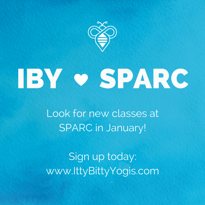 Itty BItty Yogis offers preschool yoga classes at SPARC!