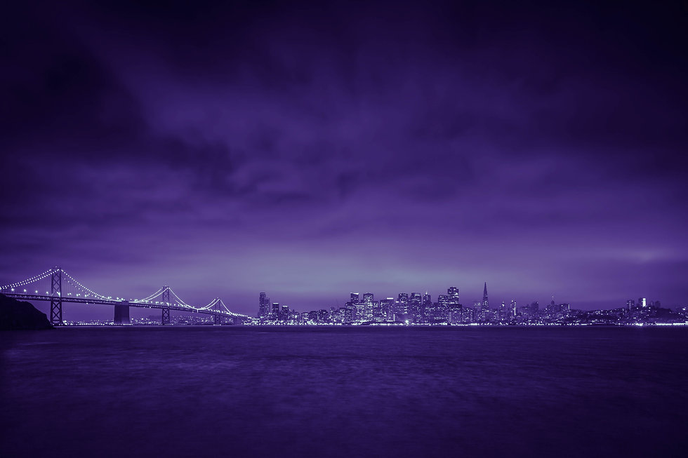 City Of Lights San Francisco Purple Copyright Ron Coquia Transformational Productions