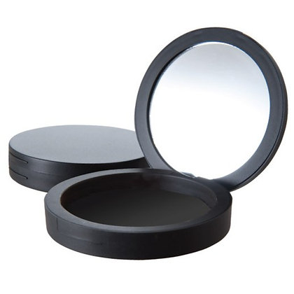 Round Black Compact with Mirror