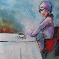 Pose_café_40_x_40_l'huile