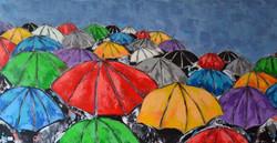 Parapluies 50 x100 acrylique