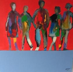Les copains 50 x50 acrylique