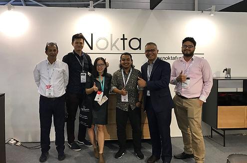 NOKTA Furniture booth at International Furniture Fair Singapore 2017