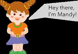 Personnage Bilingual anglais Mandy